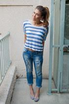 H&M flats - Zara jeans - Forever 21 t-shirt - H&M bra