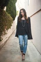 free people sweater - cotton on jeans - free people necklace - Zara heels