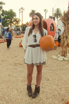 Target boots - Forever 21 dress - Alice  Olivia dress - free people sunglasses