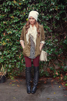 Dolce Vita boots - Zara jeans - gibson jacket - Urban Outfitters scarf - DSW bag