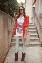 Urban Outfitters t-shirt - Target boots - Zara jeans - Zara bag
