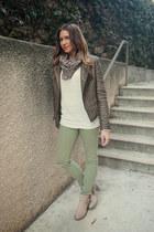 Zara jacket - Steve Madden boots - Zara jeans - Forever 21 sweater