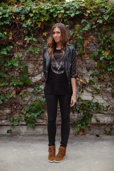 H&M jeans - asos jacket - Zara t-shirt - Urban Outfitters sneakers