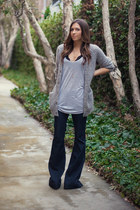 2020AVE hat - J Brand jeans - Nasty Gal bra - H&M cardigan - Forever 21 top