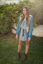 Target boots - Forever 21 dress - 2020AVE necklace - H&M vest