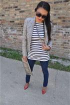 Zara jacket - Forever 21 jeans - joseph top - Christian Louboutin pumps