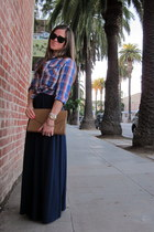Julie Brown dress - Urban Outfitters shirt - vintage purse - ray-ban sunglasses