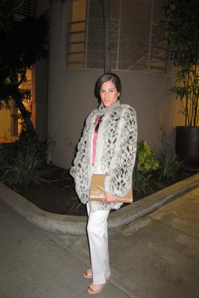 vintage coat - vintage bag - Katayone Adeli pants - rag & bone wedges - banana r