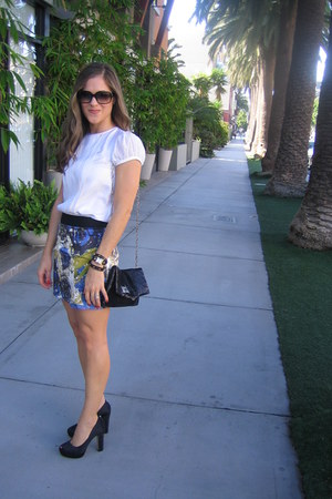 Armani Exchange blouse - Forever 21 skirt - Forever 21 bag - Michael Kors shoes