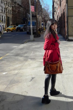 TOMS shoes - Via Spiga coat - Dooney & Bourke purse