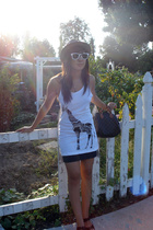 Forever21 top - random skirt - Ray Ban sunglasses - Nine West shoes