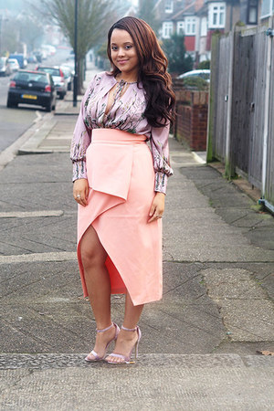 periwinkle Zara shirt - lavish alice skirt - Missguided sandals
