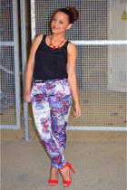 Primark top - H&M pants - Primark heels