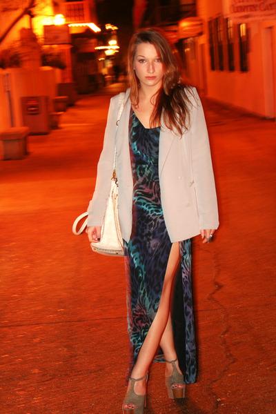 asos dress - Silence & Noise blazer - Jessica Simpson heels