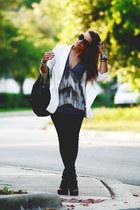 sam edelman boots - hudson jeans jeans - alythea blazer - Fendi bag - Burberry s