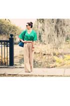 Ark & Co top - Louis Vuitton purse - Gucci sunglasses - Ark & Co pants