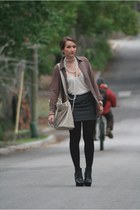 sam edelman boots - cynthia rowley tights - Susana Monaco skirt - Theory top - A