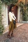 Eggshell-prada-cardigan-ysl-vintage-skirt-givenchy-sandals