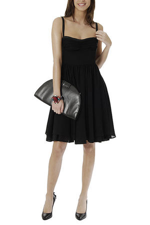 black Mango dress - black Mango shoes - Mango bracelet