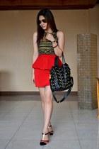 The Ramp skirt - Tomato bag - Zara top - A Girls Haven sandals