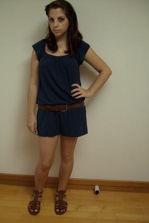 dress - Nine West shoes - Target belt - handmade accessories