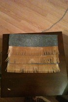 felt bag - suede fringe bag