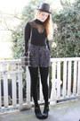 Black-buckle-ebay-boots-black-polkadot-motel-shorts-black-mesh-motel-bodysui