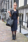 Black-buckle-dolce-vita-boots-navy-draped-topshop-dress