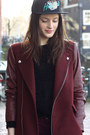 Crimson-zara-coat-black-the-hundreds-hat-black-brogues-pam-flats
