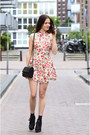 Black-asos-boots-coral-floral-love-dress-black-quilted-theyskens-theory-bag