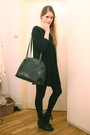 Black-badgley-mischka-dress-black-vintage-purse-black-wedins-boots