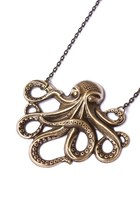 brass octopus Ruby Tuesday necklace