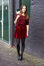 Black-ankle-vagabond-boots-brick-red-h-m-sweater