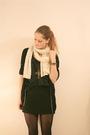 Black-h-m-skirt-black-strellson-cardigan-white-h-m-scarf