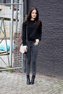 Charcoal-gray-river-island-jeans-black-studded-udobuy-sweater