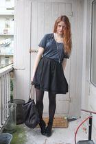 blue fifth avenue shoe repair t-shirt - black fifth avenue shoe repair skirt - g