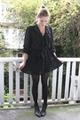 Black-ankle-vintage-boots-black-chiffon-vintage-dress