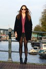 Black-mango-coat-black-dee-vagabond-boots-maroon-atmosphere-blouse
