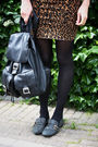 Black-miss-selfridge-jacket-brown-flying-a-skirt-gray-gifted-shoes-black-v