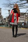 Red-moschino-cheap-chic-blazer-pink-topshop-blouse-gray-h-m-skirt-black-