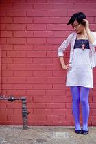 pink voodoo doll accessories - black rubi shoes - white kosit dress