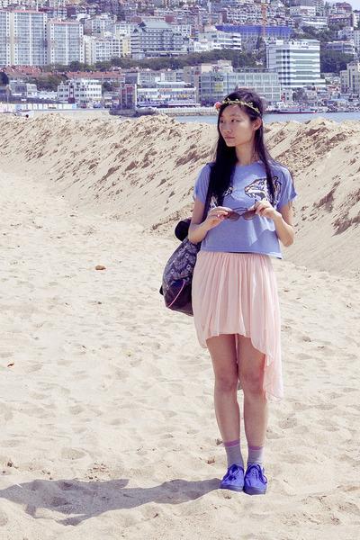 bubble gum fox striped Accessorize socks - blue H&M shoes