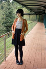 Yuko-dress-orange-mango-cardigan-black-leggings-paris-kids-necklace-rubi