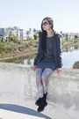 Black-mens-fila-boots-charcoal-gray-shift-t-milano-dress
