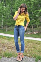 yellow NY&CO blouse