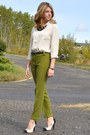 Zara-blouse-drafted-pattern-self-made-pants-cream-black-zellers-diy-pumps