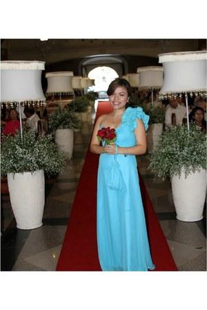 blue own design dress
