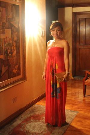 hot pink hot pink trends dress - gold gold random from Hong Kong bag