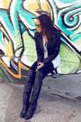 Modern-vintage-boots-aqua-jacket-zara-leggings-madewell-shirt