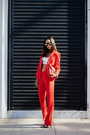 Red-sandro-blazer-red-rebecca-minkoff-bag-ivory-intermix-bra